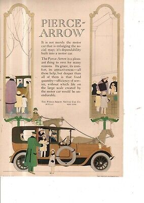 1914 Pierce Arrow Enclosed car Original color ad from The Theatre -doll shopping