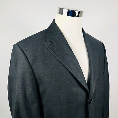 Brooks Brothers Mens 40R Sport Coat Stretch Wool Charcoal Gray Three Button