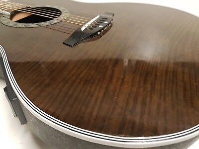 CLARITY ELECTRO ACOUSTIC STEEL STRING - made in KOREA - BROWN FLAME TOP