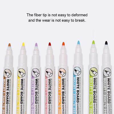 8pcs/set Painting Marker Pen Dry-Erase Colored Magnetic Whiteboard Pen Colorful