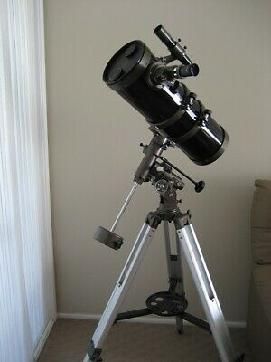 Telescope 150mm Reflector, Short Tube Newtonian on Equatorial Mount.