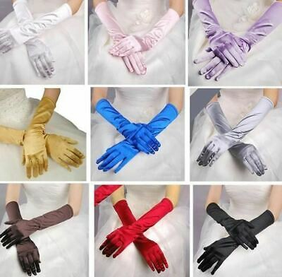 inSowni Girl Women Ladies Long Evening Party Prom Wedding Opera Satin Gloves