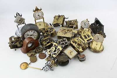 Job Lot Of Assorted Vintage CLOCK MOVEMENTS / CASES, PARTS, DIALS Etc