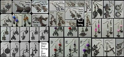 Dangle Drop Wicca Pagan Boho Goth Vintage Hippie Gypsy Tibetan Silver Earrings