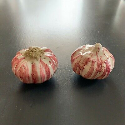Red Garlic Salt and Pepper Shakers