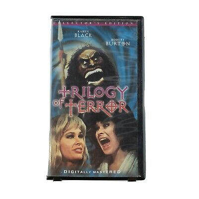 Trilogy of Terror Collector's Edition VHS Tape Clam Shell Anchor Bay Rare Horror