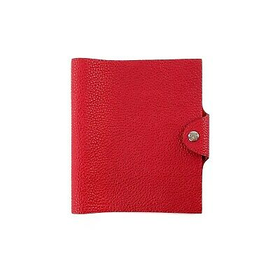 Hermes Rouge Red Togo Leather Ulysse Notebook Agenda Cover PM Small