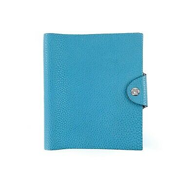 Hermes Blue Jean Togo Leather Agenda Ulysse Notebook Cover PM Small