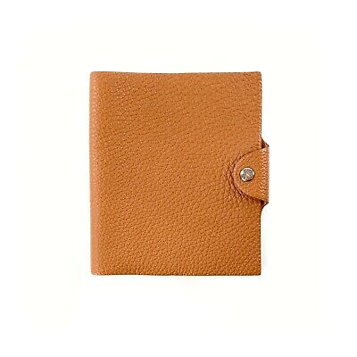 Hermes Gold Tan Togo Leather Ulysse Agenda Notebook Cover PM Small