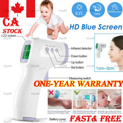 IR Infrared Digital Forehead Fever Thermometer Non-Contact Baby Adult Child Bod