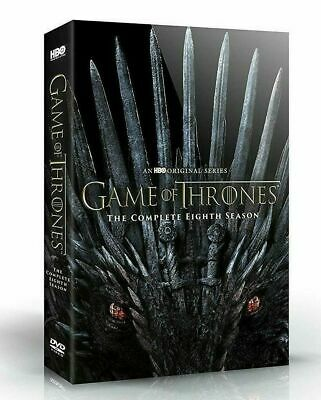 Game Of Thrones: Season 8 Eight (DVD, 2019, 4-Disc Set)  1st Class Shipping NEW