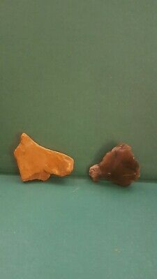 Super Upper Paleolithic/ Mesolithic Portable Rock Art Animal Profile duo Stones.