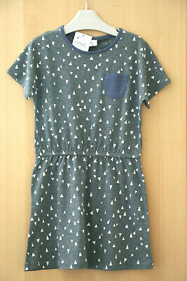 Next Girls Grey Geo Print Tunic Dress Age 6 Years BNWT