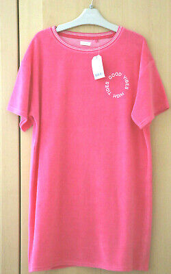 Next Girls Pink Towelling Beach Dress Age 10 Years BNWT