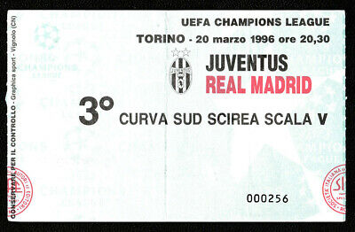 TICKET Juventus Torino - Real Madrid 1995/96 Champions Lg.1/4 Final, Italy Spain