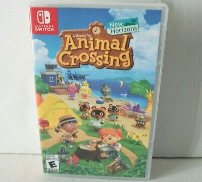 Animal Crossing New Horizons Case Only NO GAME Nintendo Switch Empty Box Artwork