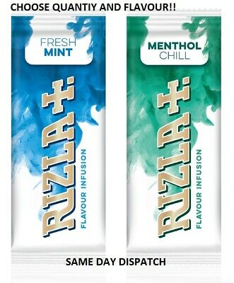 Rizla Flavour Infusion Cards, Menthol Chill Or Fresh Mint, Minty Flavour Cards