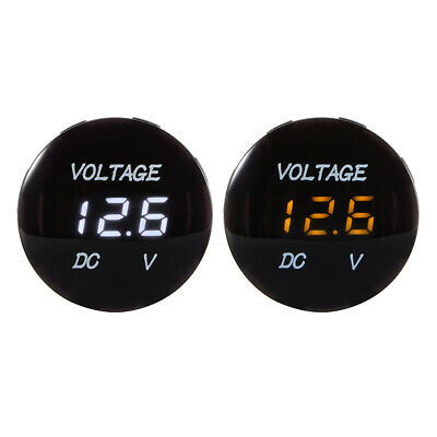 Waterproof DC 12V-24V LED Digital Display Voltmeter for Car Boat Vehicle