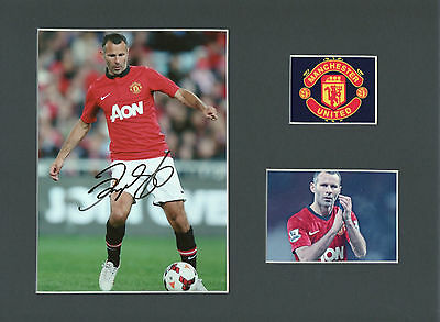 RYAN GIGGS Signed 11x8 Photo Display MANCHESTER UTD & WALES Legend COA