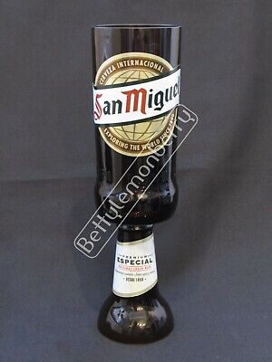San Miguel Spanish Lager / Beer Stemmed Chalice Glass Goblet - 100% Recycled!