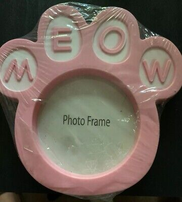 "Pink Cat Photo Frame ""meow"""