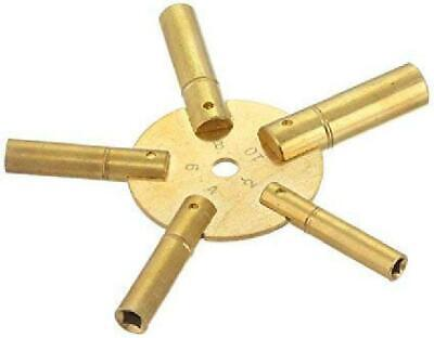 Brass Blessing : Clock Winding Key - Brass (Even) Antique and Grandfather Key (E