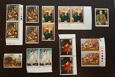 Gb 1967 Lawrence Harrison Painting Commemorative Postage Stamps