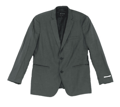 International Concept Mens Blazer Jacket XXL 2XL Dusty Green 2 Button Slim Fit