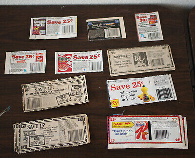 Lot of 100 Vintage Collectible Coupons Food/Cleaning #4 NO EXPIRATION DATES