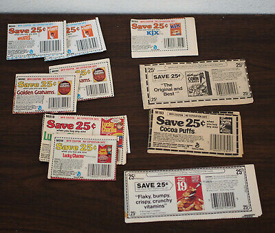 Lot of 100 Vintage Collectible Coupons Cereals NO EXPIRATION DATES