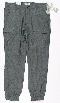 Kenneth Cole Reaction Black Combo Jogger Pants 30 Cargo Military
