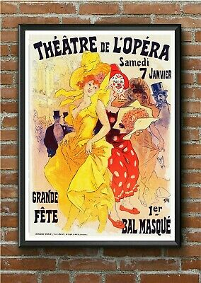 AP92 Vintage 1886 Comedy Theater Comic Opera Advertisement Poster Print A2//A3//A4