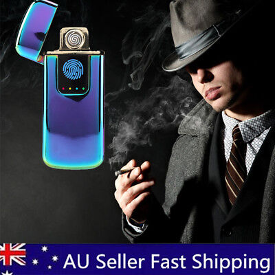 Windproof Electric Ultrathin Cigarette Lighter USB Rechargeable Flameless Plasma