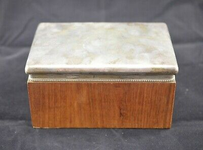 Antique French Sterling Silver 950 Minerva and timber keepsake/desk box
