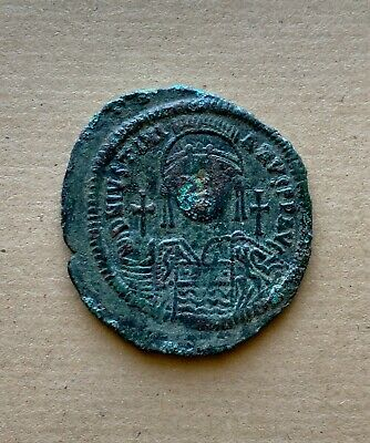 Justinian I (527-565) bronze follis, dated AD539/40.Largest byzantine coin ever!