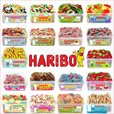 1 x Full Tub Haribo Sweets Candies Party Favours Treats Wholesale Candy Gift Box