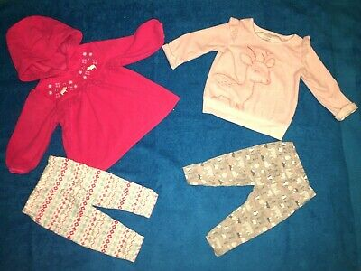 Set of 2 Child of Mine 3-6 Month Baby Girl 2-Piece Pants Outfits