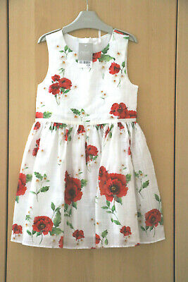 Next Girls White Floral Print Dress Age 6 Years BNWT Tag £28