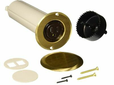 Hubbell-Raco 6RF151SR Drop in Floor Box Kit with Brass Cover Concealed Receptacl