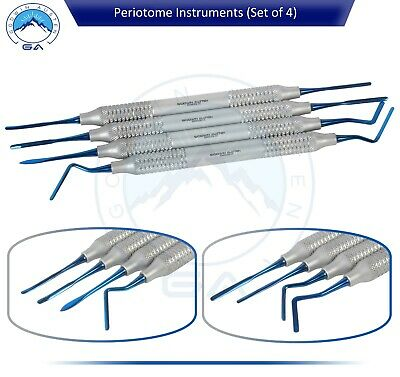 DENTAL Periotomes Periotome PDL Ligament Periodontal Kit-SET OF 4