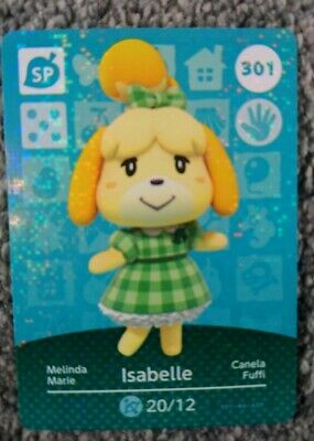 ANIMAL CROSSING AMIIBO SERIES 4 Card 301 Isabelle NINTENDO 3DS & WII U & Switch