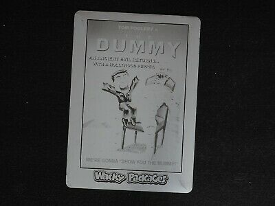 2018 Topps Wacky Packages The Dummy Printing Plate #1/1