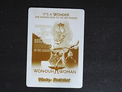 2018 Topps Wacky Packages Won-Duh Woman Printing Plate #1/1