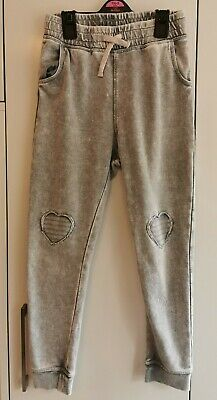 Girls Grey Tracksuit Bottoms H&M 8-9 Yrs Exc Cond