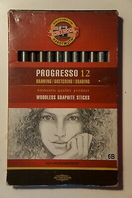 KOH-I-NOOR Progresso 6B Woodless Graphite Pencil (Box of 12)