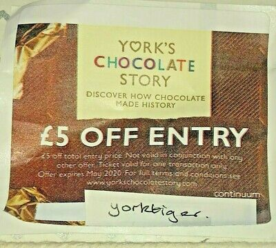 York Chocolate Story Voucher Coupon - £5 Off Entry.  Valid until May 2020.