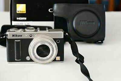 Nikon COOLPIX A 16MP 28mm f/2.8 DX APS-C Camera Silver with 2 Batteries & Box