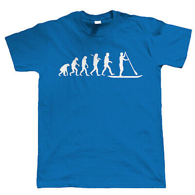 Evolution Of Paddle Boarding, Mens T Shirt - Equipment Gift Dad Him Fathers Day