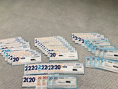 Lot of 50 Bed Bath & Beyond Coupon (46) 20% Off One Item, (1) $10 , (2) $20 (1)5