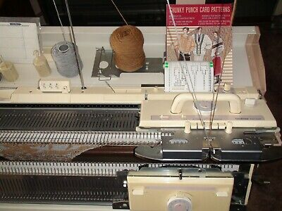 Knitting Machine Brother Bulky Kh 260+Kr 260 Ribber Good Working Condition